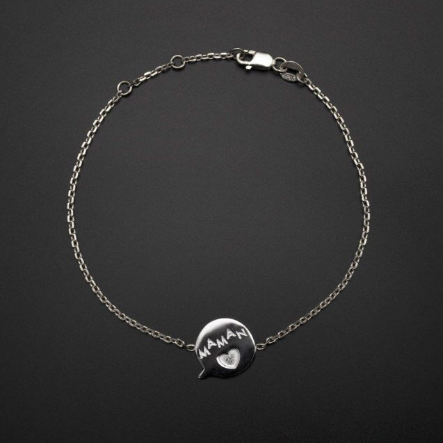"""Bracelet médaille """"Maman"""""""