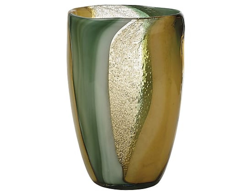 Vase vert et beige