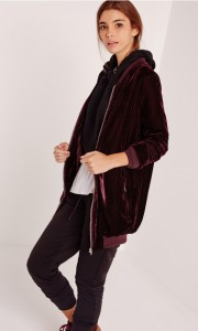 Bomber long en velours