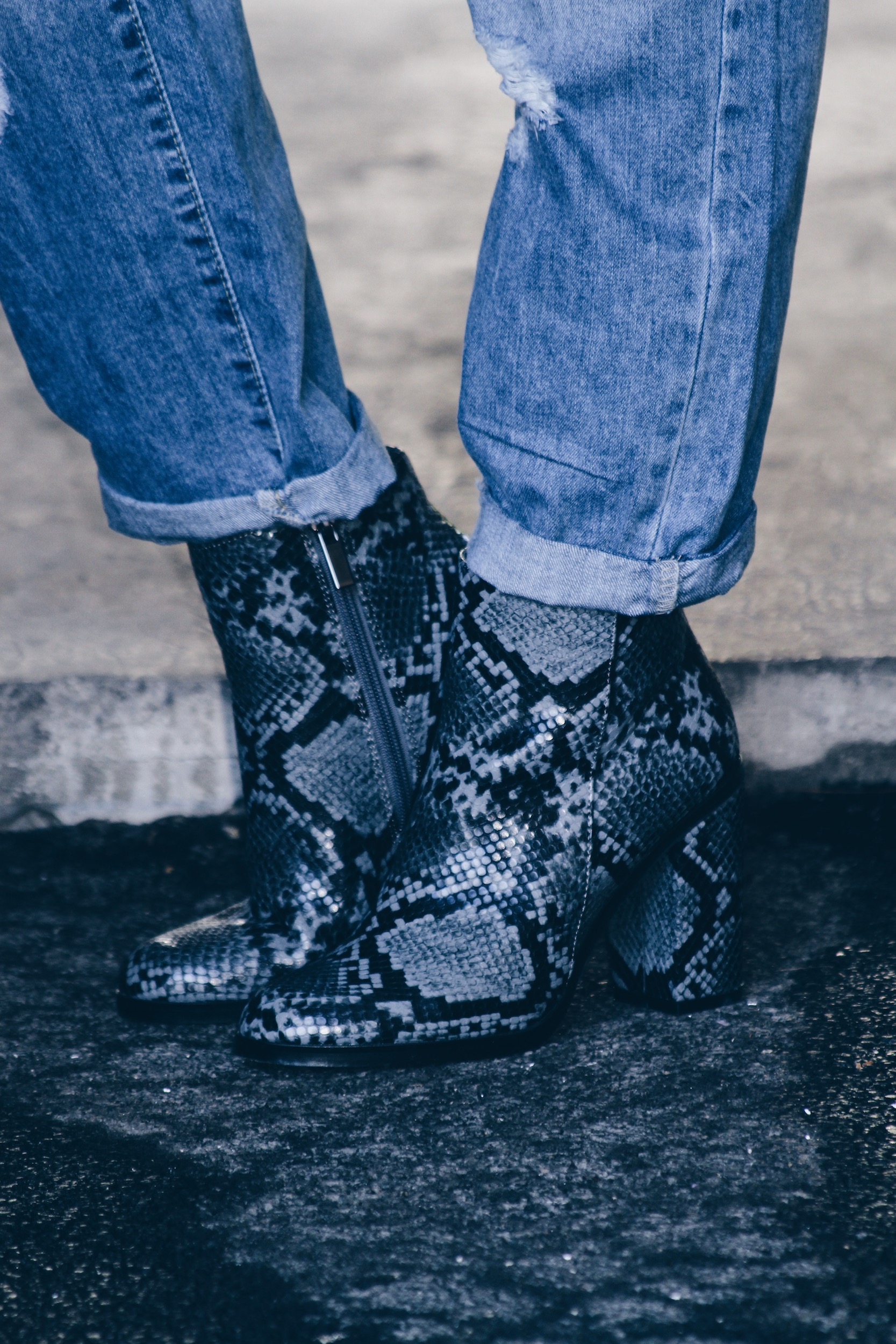 new-look-bottines-python-ootd-doudoune-jean-mom