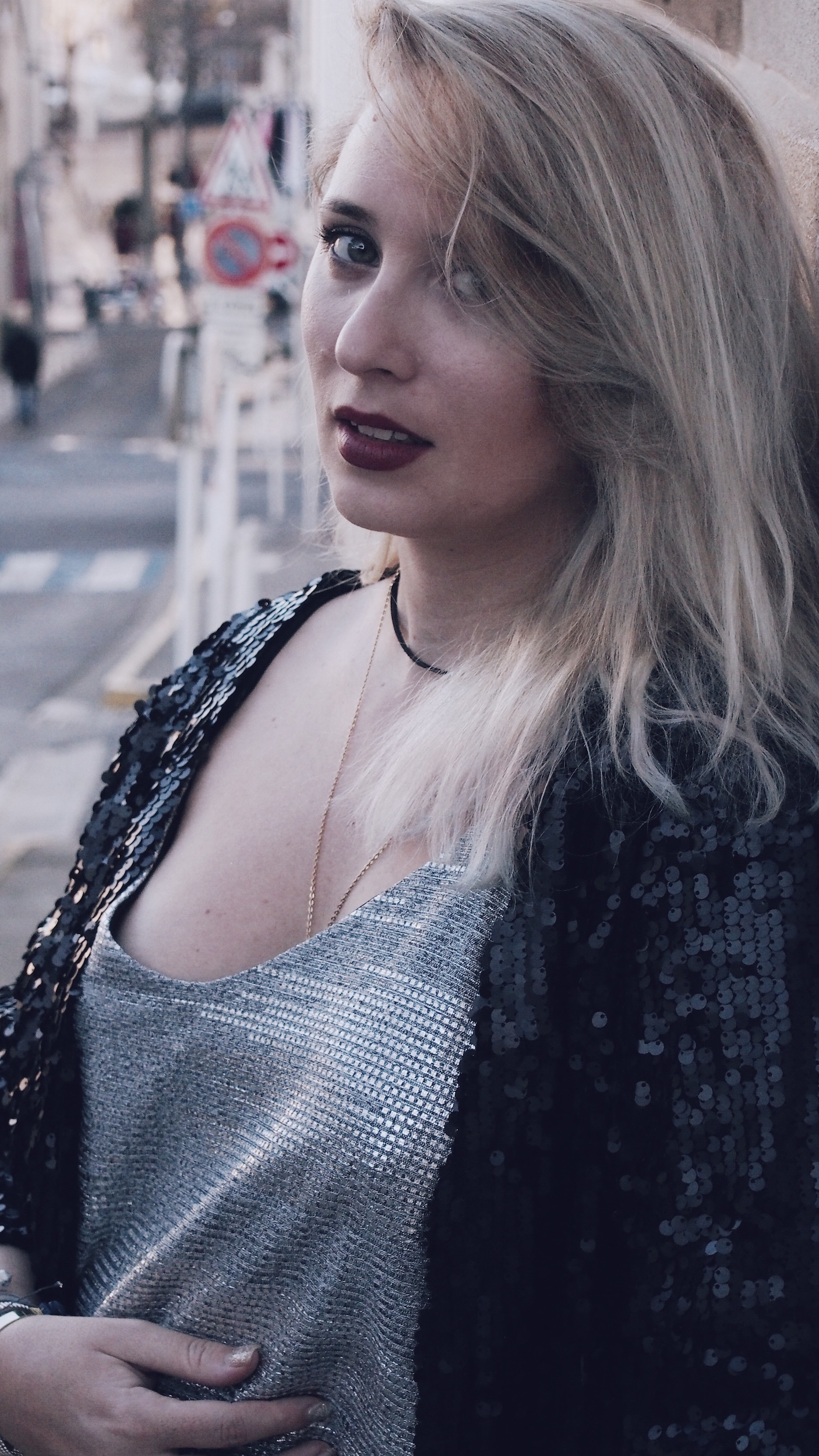new-look-ootd-babou-sequin-silver-denimOLYMPUS DIGITAL CAMERA Processed with VSCO with c4 preset