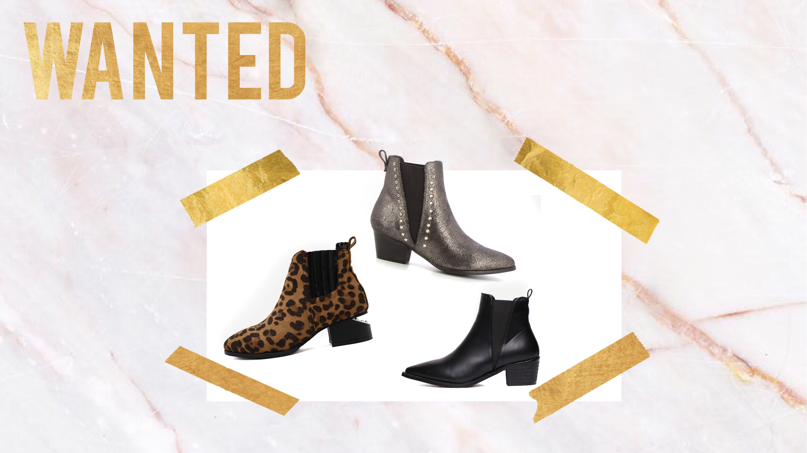 * WANTED * Des bottines plates tendances