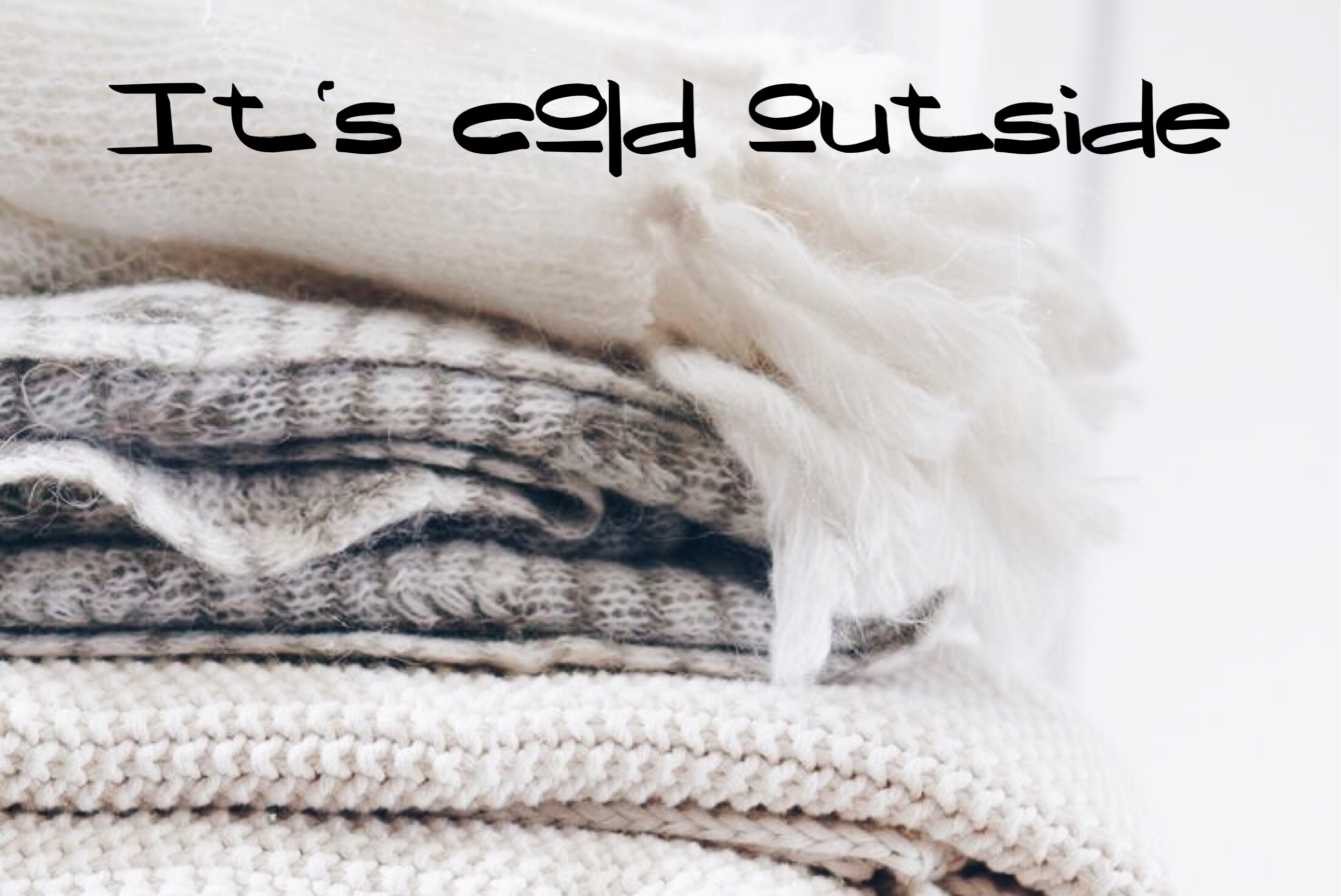 Sélection de vêtements tout chaud