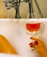 Porte verre pour baignoire