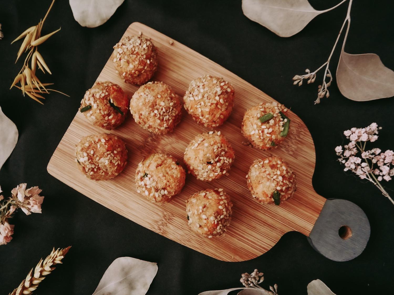 Energy Balls salés carottes – patates douces (anti gaspillage extracteur de jus)
