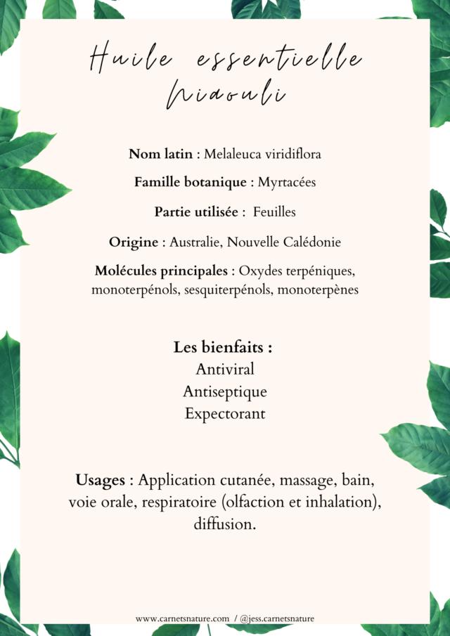 huile essentielle de niaouli bienfaits